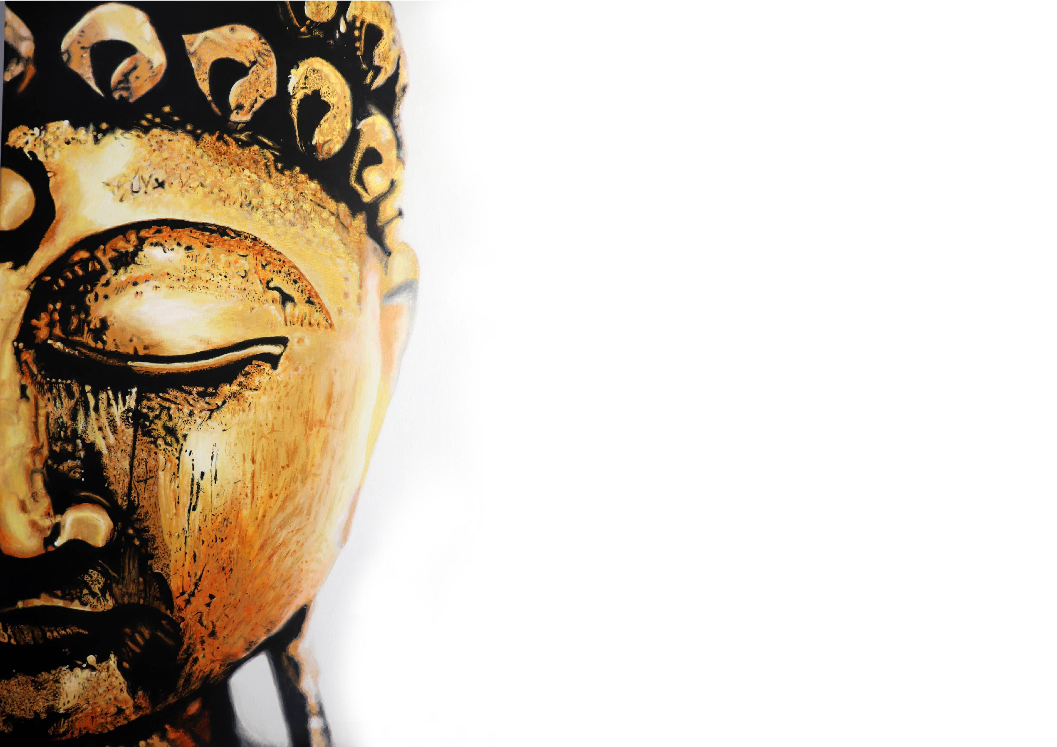 www.eefjemuurbloempje.nl - 61 boeddha goud metallic